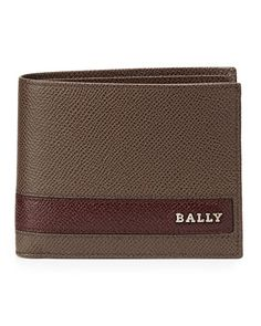 Bally Letrilt Leather Wallet, Bark/Oxblood