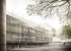 Gallery of Tomas Ghisellini Architects Propose Shimmering Extension to the…