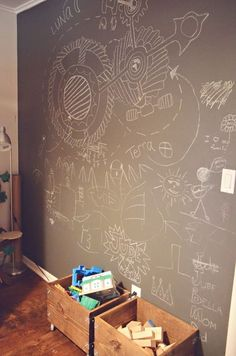 Chalk paint wall in