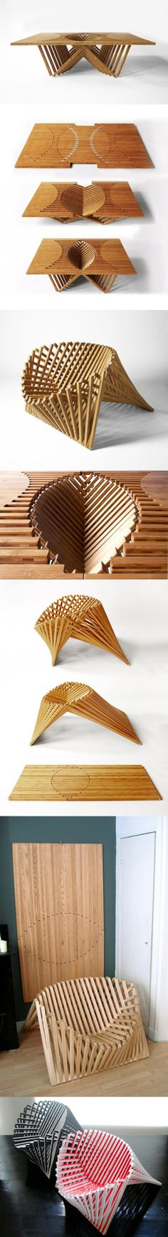 The Rising Table and Chair. Shut up and take my money!