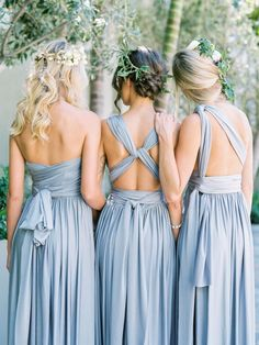 Beautiful bridemaid dresses. Taking pictures and having to pose infront of a stuning background for those fantastic picture is all apart of being a bridemaid. That doesnt mean that you have to suffer walkking through the grass. Get high heel protectors to prevent that from happening.