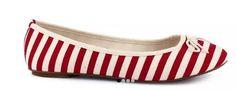 Flats Zapato Beige Rojo Textil Casual Tropicana - $ 350.00