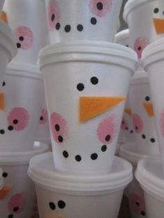 Snowman treat cup - so easy