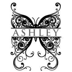 Butterfly Monogram Wall Decal | DecalMyWall.com