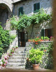Tuscany, Italy near Barga and Lucca