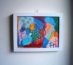 originale abstrakte Acrylmalerei mit Oelkreide auf von SuseundMuse