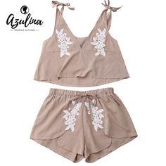 IRISIE Women Scallop Lace Translucent Lace Low Waist T-Shirt Shorts