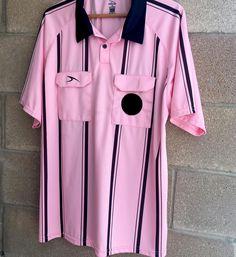 Men's Score Adult Pink Black Bowling Referee Polo Shirt Velcro Pockets Large…