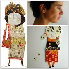 Ana Ventura y sus muñecas de papel. Aquí en el blog encontraréis más información sobre esta artista portuguesa.