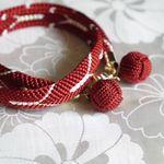 組紐bracelet「 ちはやふる ~韓紅~」 | ハンドメイドマーケット minne
