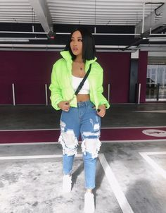 Neon slime insta baddie outfit inspo Source by SaintLaurentScarf outfits baddi Neon Outfits, Insta Outfits, Teen Fashion Outfits, Swag Outfits, Stylish Outfits, Girl Outfits, Baddie Outfits Casual, Hipster Fashion, Streetwear Mode