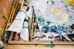 Painterly palettes in Emily Jeffords' studio