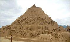 One piece chateau de sable sandcastle