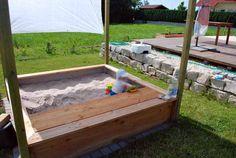 Sandkasten aus Douglasie Bauanleitung zum selber bauen