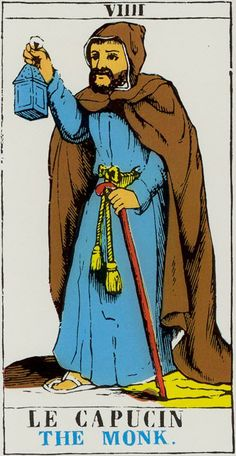 The Monk (The Hermit) - Tarot d'Epinal