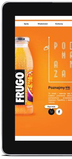 Party, with Frugo. Web proposal. by Piotr Kazmierczak, via Behance