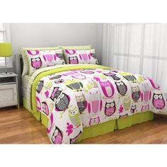 Latitude Sketchy Owl Reversible Bed in a Bag - Walmart.com