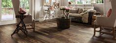 Architectural Remnants Laminate Floors from Armstrong.  Laminate that looks like barn wood.