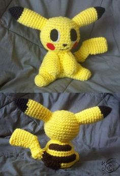 Crocheted amigurumi Pikachu by silvia