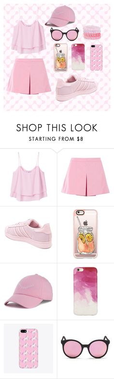 """""""For pink mood"""" by dianaefimova on Polyvore featuring мода, MANGO, Love Moschino, adidas, Casetify, Dimepiece, Milly, Spektre и Accessorize"""