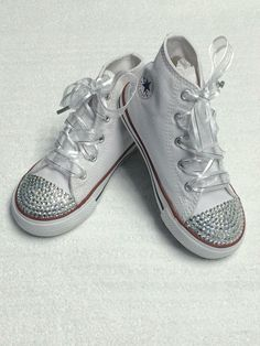 Blinged Out Converse Wedding Shoes. Perfect for by TrickedKicks Bridesmaid  Converse aa33eb1007