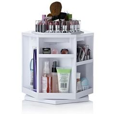 Tabletop Spinning Cosmetic Organiser by Lori Greiner  http://www.qvcuk.com/qvc.product.759257.html?cookie=set