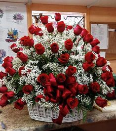 Flowers Discover Love in a Basket : Cape Coral FL Florist : Same Day Flower Delivery for any occasion Love in a Basket Valentine Flower Arrangements, Basket Flower Arrangements, Creative Flower Arrangements, Funeral Flower Arrangements, Rose Arrangements, Valentines Flowers, Beautiful Flower Arrangements, Funeral Flowers, Beautiful Rose Flowers
