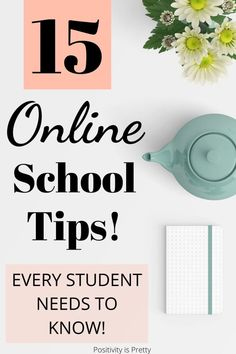 Do you want to be a successful online student? If so, keep reading for 15 online school tips that will lead you to success and beyond! Online Middle School, Middle School Hacks, High School Hacks, School Study Tips, Back To School Hacks For Teens, College Hacks, Freshman Tips, Highschool Freshman, Freshman Year
