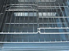 The vinegar and baking soda together really help to loosen and soften the baked on grime on your oven racks, making cleaning much easier and chemical free.