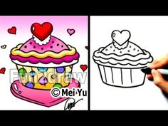 """How to draw a heart"" - ""How to draw a cupcake"" - ""How to draw Valentine hearts"" - ""How to draw Valentine's stuff"" step by step! 100's more drawings: http://www.youtube.com/fun2draw    Awesome Fun2draw playlists:    How to Draw Valentines, Love & Romantic Cartoons  http://www.youtube.com/playlist?list=PLC52EB3AAE6ACAC98    Uploaded Videos  http://www.yo..."