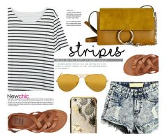 """""""NEWCHIC.com"""" by monmondefou ❤ liked on Polyvore featuring Ray-Ban, Billabong and Skinnydip"""