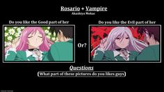 rosario vampire manga funny | Rosario + Vampire / questions