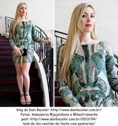 vestido MABEL MAGALHAES (VT1931VERDE) tem na LOJA VILLA