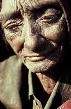 Such an interesting face. I'd love to hear their story..