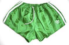 Vintage Adidas Glanz Sport Shorts. Shaded Stripes.