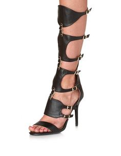 Strappy Cuffed Knee-High Gladiator Heels: Charlotte Russe