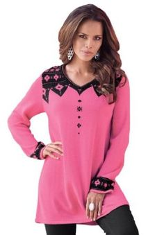 www.iwantobefitnow.tumblr.com/  Roamans Plus Size Fondue Sweater Tunic #Plus Size