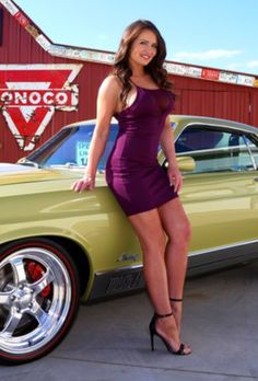 Classy Cars, Sexy Cars, Lovely Legs, Great Legs, Mustang Girl, Purple Reign, Curvy Women Fashion, Car Girls, Glamour