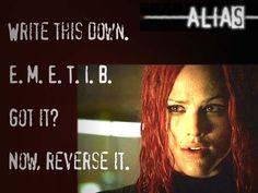 """Bite me"" - Alias"