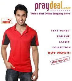 Puma Red T-Shirt - Latest Collection - Flat 50% OFF on www.praydeal.com