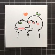 Easy Doodles Drawings, Easy Cartoon Drawings, Cute Little Drawings, Mini Drawings, Cute Easy Drawings, Art Drawings Sketches Simple, Simple Doodles, Kawaii Drawings, Cute Doodles