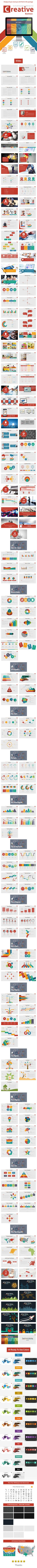 Creative business PowerPoint presentation template for multipurpose business Profile, Offer or Report… etc., you can use it for many sectors such as technology, finances or business. It contains resizable images, free fonts and (dark/gray/white) backgrounds.
