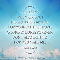 Your faithful love endures forever...  http://www.klove.com