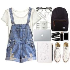 10 Adorable Outfits with Dungarees - Cute Outfits for Girls