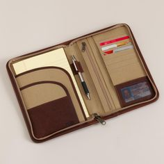Business Portfolio - Fire Hose and Leather Foreman's Organizer - Duluth Trading