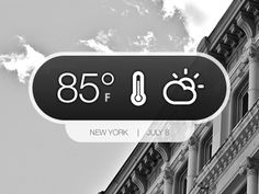 Dribbble - Weather Pop-up by Eric E. Anderson