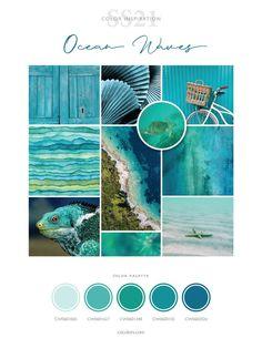 Ocean Colors, Colours, Colour Pallette, Colour Board, Color Stories, Land Art, Color Of The Year, Color Trends, 20 Years