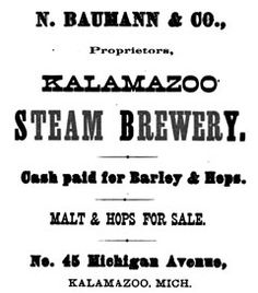 Breweries of Early Kalamazoo (1837-1915), sadly gone now, but the page gives maps showing where they used to be