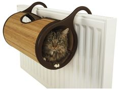 Cat Bed - seems like a fire/burn hazard, but would be great for a windowsill.