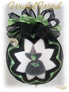 Quilted Ornament Wizard of Oz Wicked Witch by missjoysornaments, $20.00